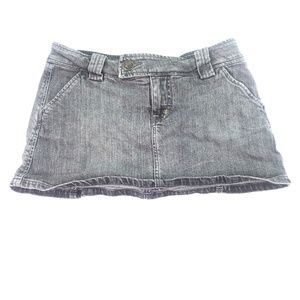 Hot Kiss Women's Grey Mini Skirt Sz 3/27 K241
